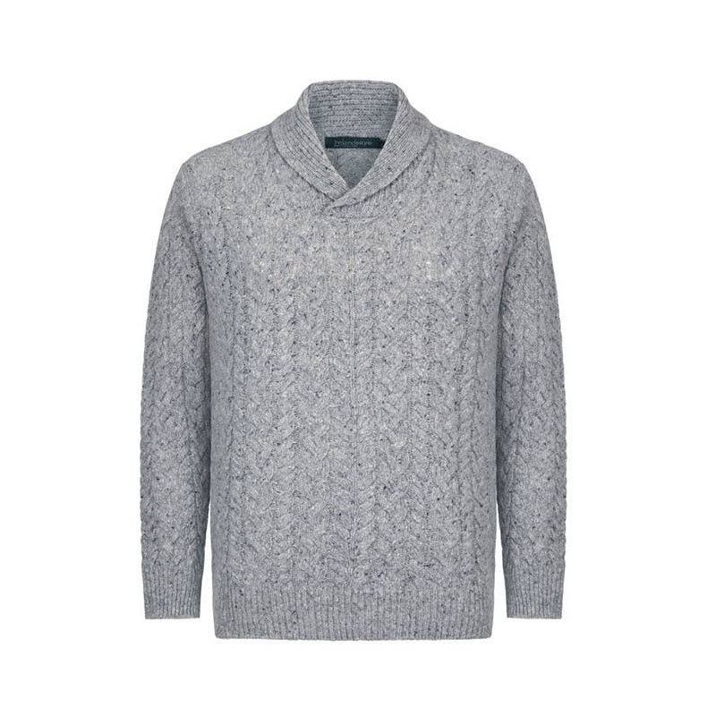 b7af04e9ab1c Męski Sweter z odwiniętym kołnierzem - Męski sweter wełniany