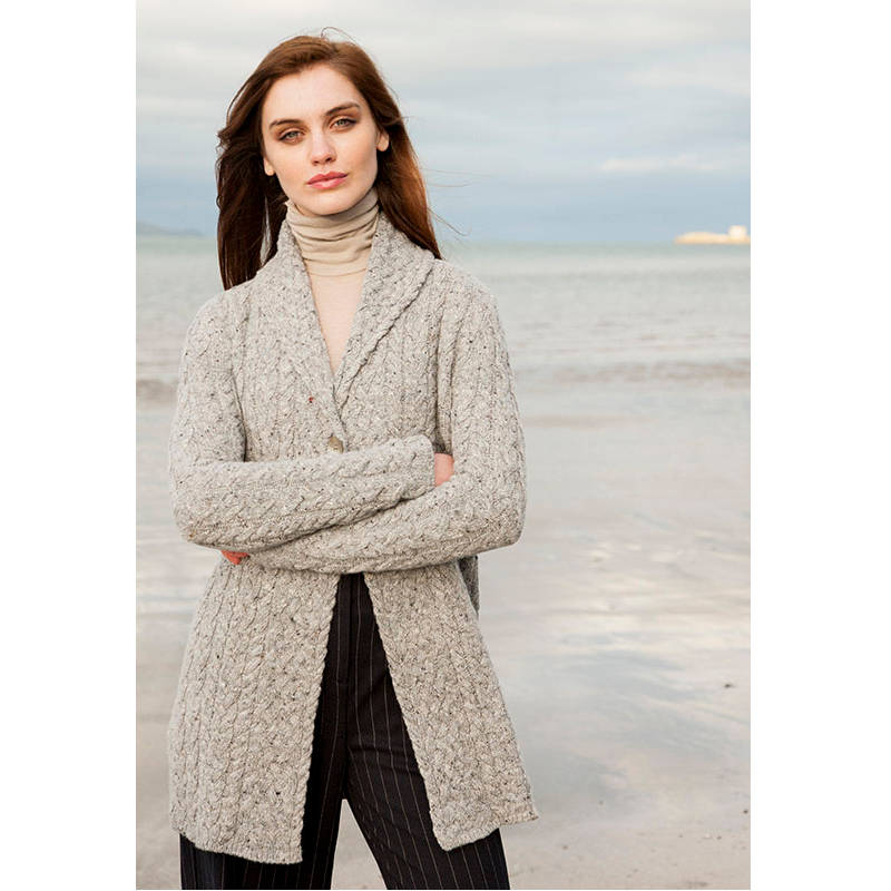 b80f6cbf8bbc46 Damski sweter z wełny kaszmiru i jedwabiu - Frosheep
